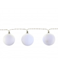 Guirlande 12 boules blanches LED - 4,00m
