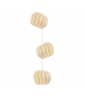 Guirlande LED boules blanches origami