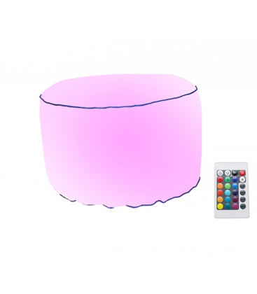 Tabouret lumineux gonflable RGB